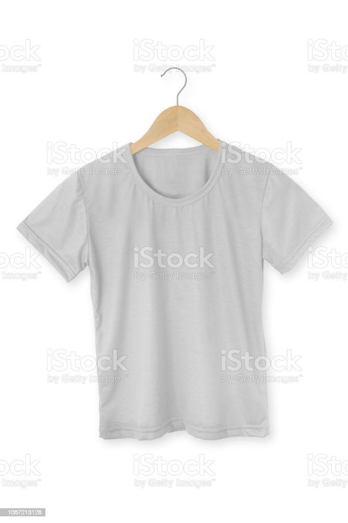 Maqueta de una plantilla de color de camiseta de una mujer sobre un fondo blanco - foto de stock