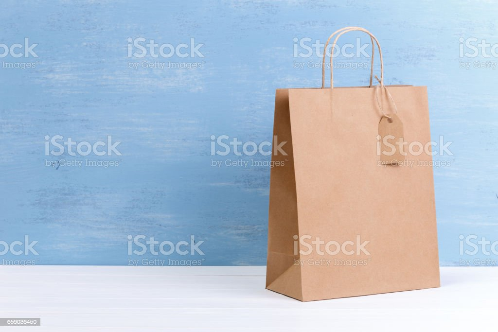 Mockup of blank shopping bag. Sale concept. royalty-free stock photo