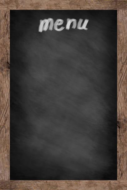 mock-up der kreide board vertikale hintergrund textur für werbung oder anzeigen produkt: blackboard montage bildkonzept - speisekarte stock-fotos und bilder