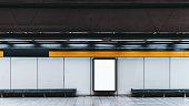 地下鉄で空情報バナーのモックアップ