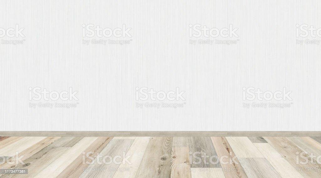 Mockup Of Empty Living Room With Vintage Oak Wooden Floor