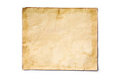 istock Mockup of empty old vintage yellowed paper sheet 1129071030