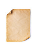 istock Mockup of empty old vintage yellowed paper sheet 1129071206