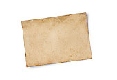 istock Mockup of empty old vintage yellowed paper sheet 1129071218