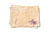 istock Mockup of empty old vintage yellowed paper sheets 1129071089