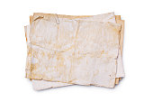 istock Mockup of empty old vintage yellowed paper sheets 1129071112