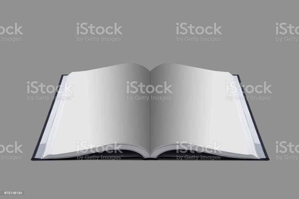 Maquette du livre ouvert au fond de papier blanc design. photo libre de droits