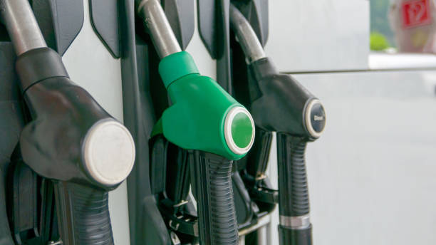 Mockup of petrol dispensers at gas station Mockup of petrol dispensers at gas station biodiesel stock pictures, royalty-free photos & images