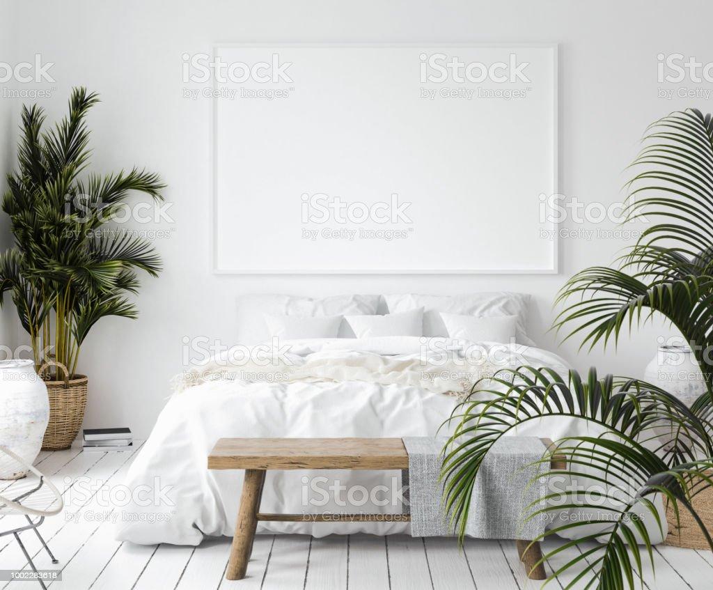 Image Posterisee Maquette Dans La Chambre A Coucher De Style