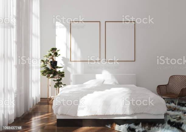 Mockup poster frame in modern bedroom scandinavian style picture id1093437748?b=1&k=6&m=1093437748&s=612x612&h=989f20t hbqbicjmlhnqykaoovm9o1ipthlu7r jlt4=