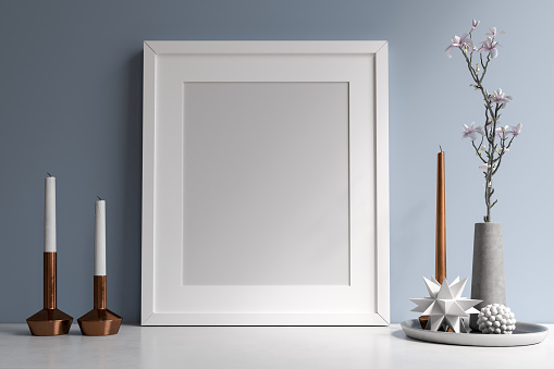 Mockup Poster Frame Stock Photo - Download Image Now