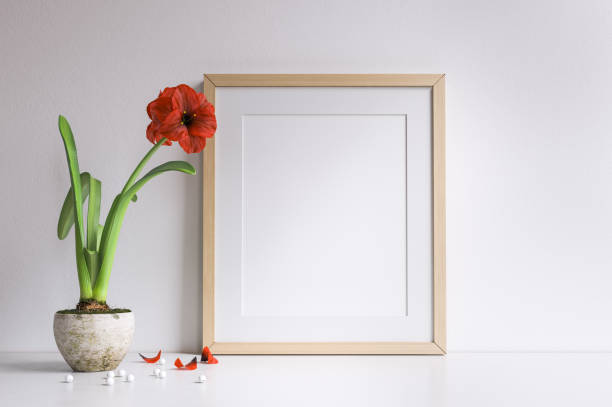 Mockup poster frame stock photo