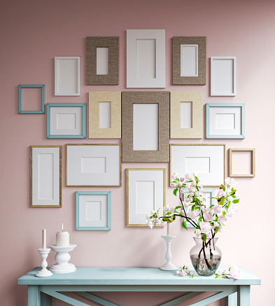 Mockup Poster Frames Stock Photo - Download Image Now