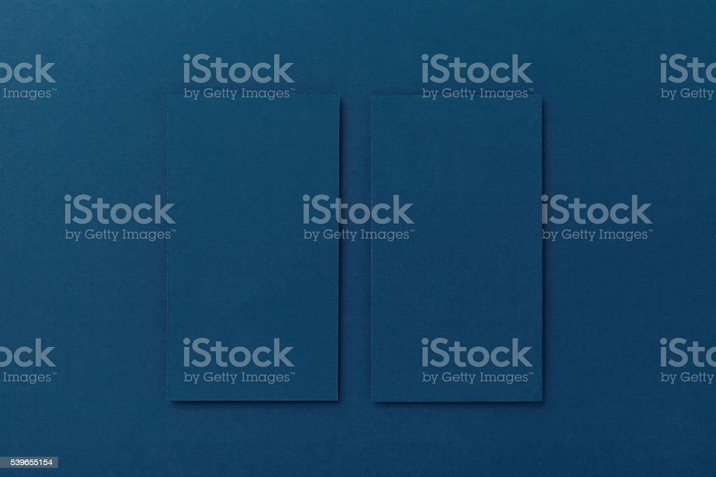 Mockups cards for branding closeup stock photo