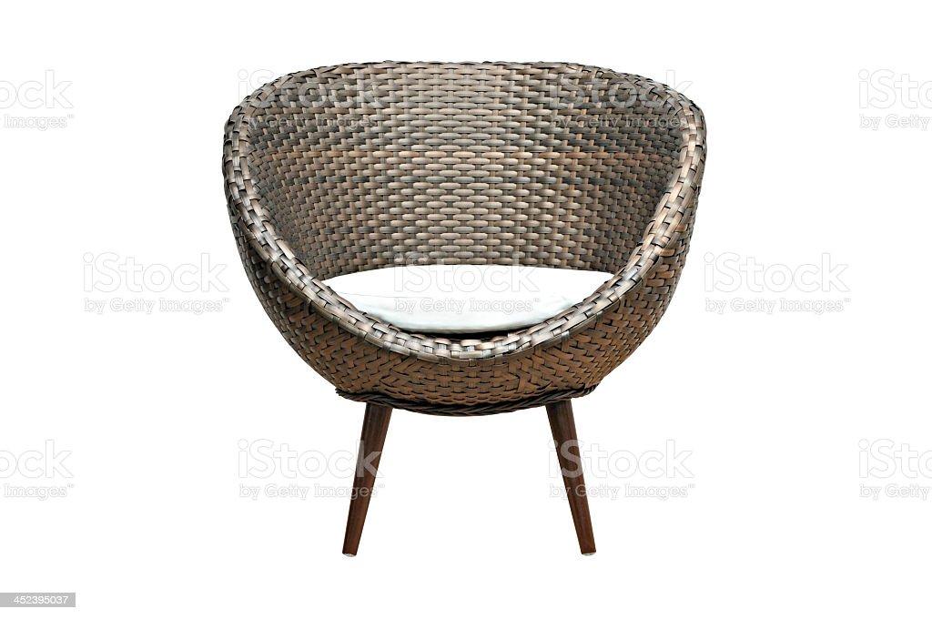 Moddern wicker chair stock photo
