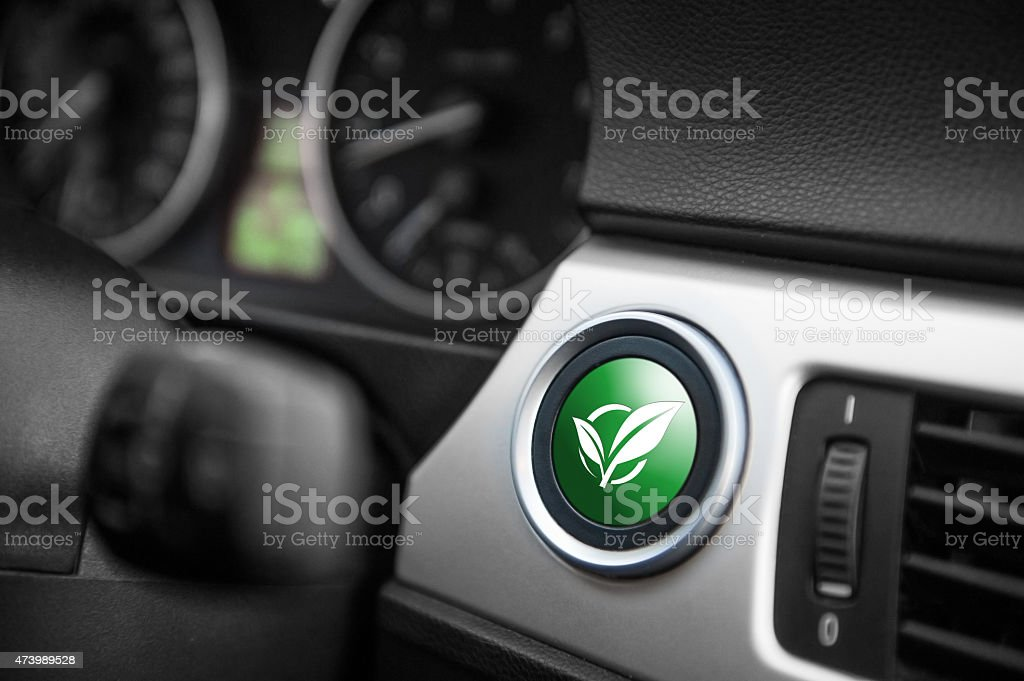 ECO mode button. stock photo