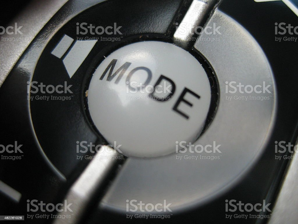 Mode Button stock photo
