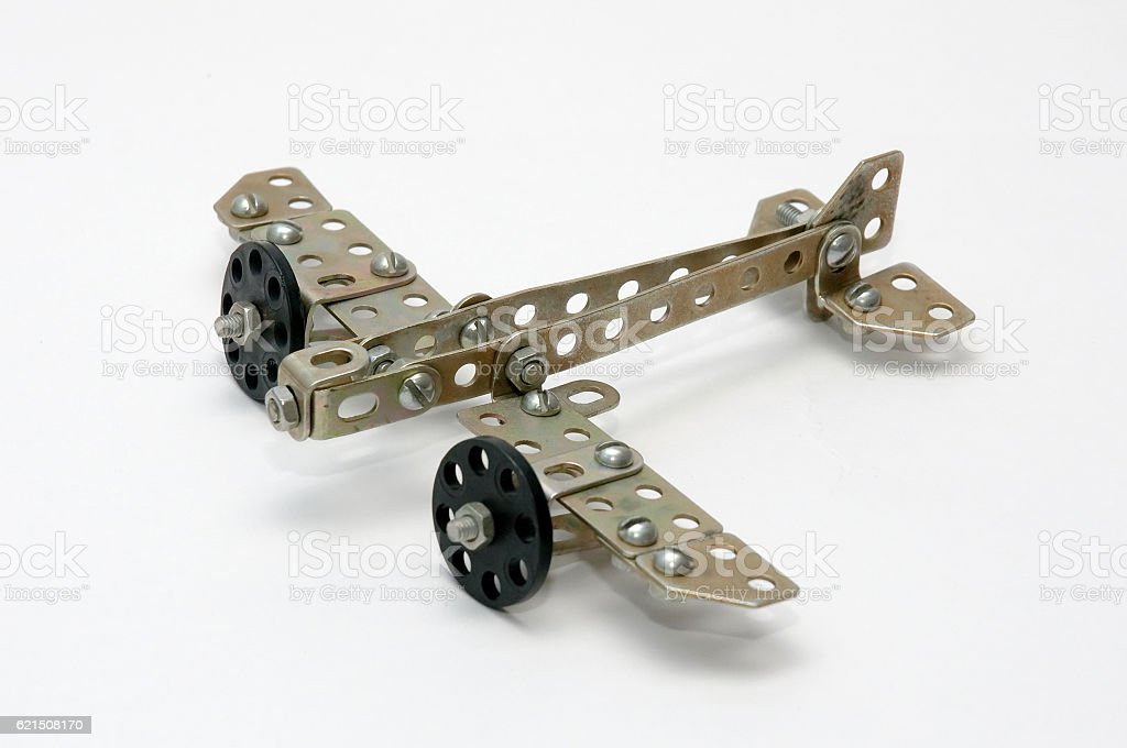 Model aircraft made from metal children's designer photo libre de droits
