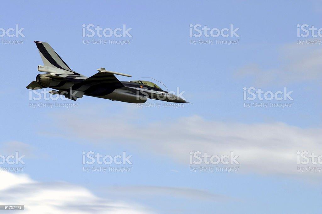 F - 16 model aircraft royalty-free stock photo