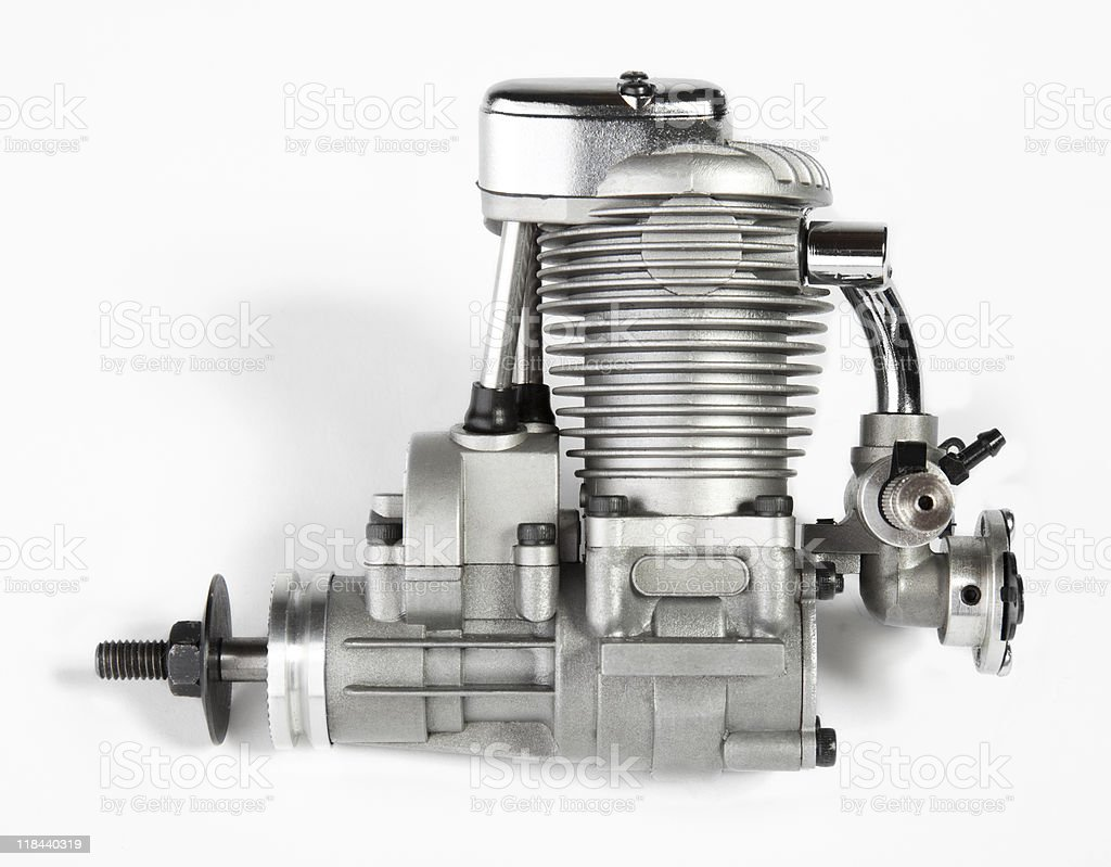 Model Airplane Engine stock photo