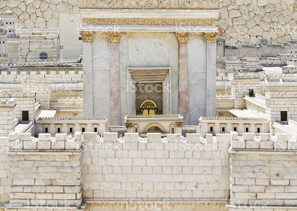 Model ancient Jerusalem period second temple stock photo