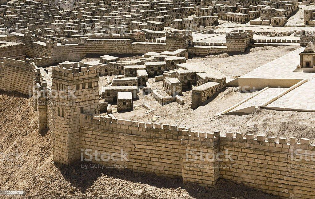 Model ancient Jerusalem stock photo