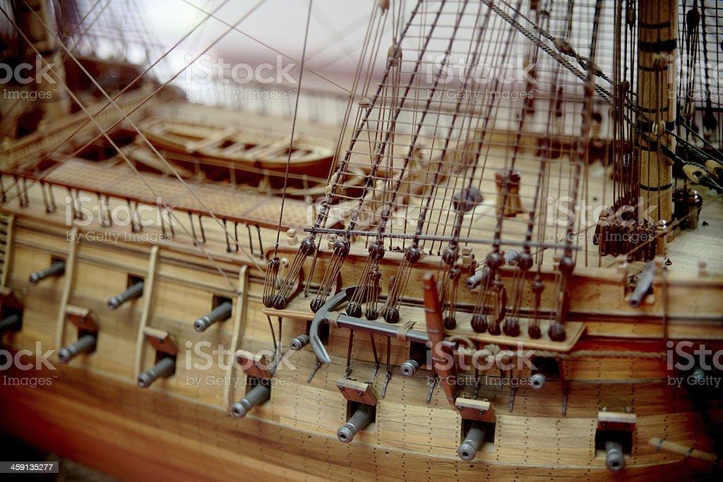 model boat stock photo