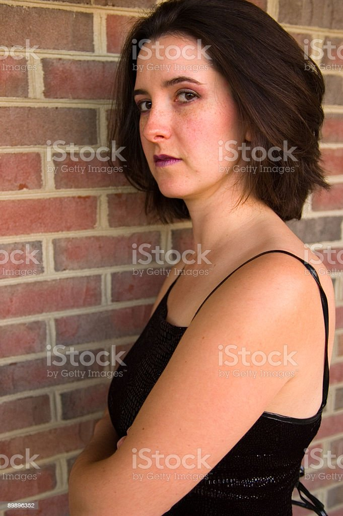 Model by Brick Wall royalty-free stock photo