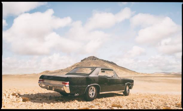 Model car In The Desert stock photo