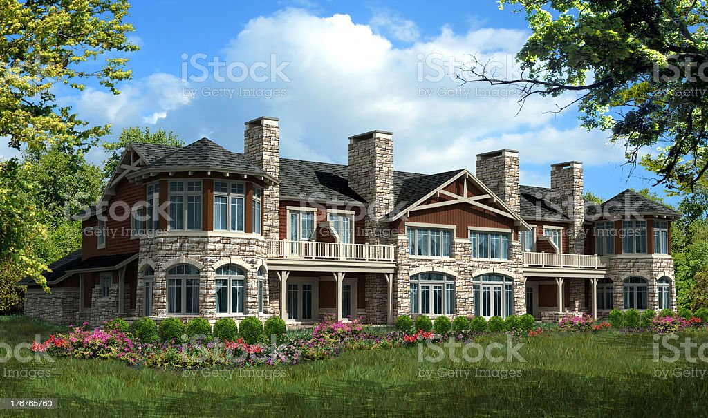 Model condominium house royalty-free stock photo