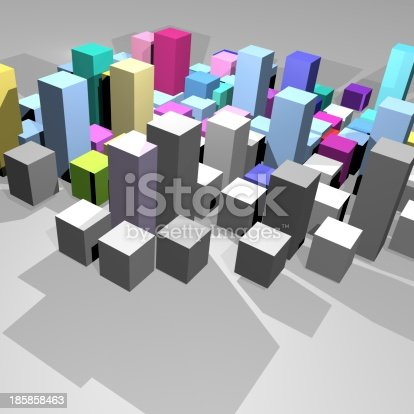 536971177 istock photo 3D model cube background 185858463
