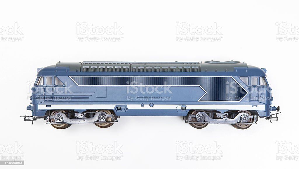 model diesel locomotive stock photo