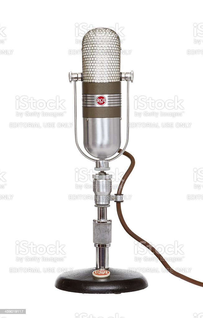 RCA  Model DX 77 Microphone royalty-free stock photo