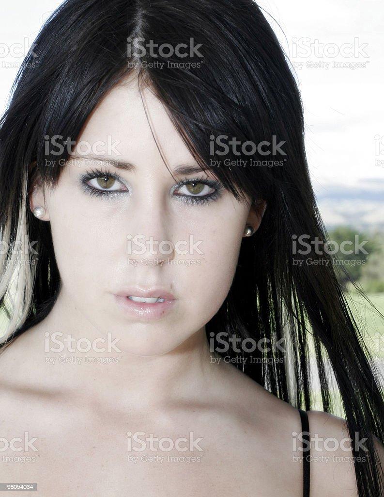 Model face royalty-free stock photo