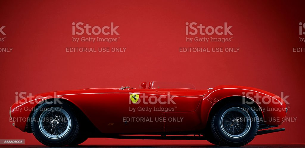 Model Ferrari 375 Plus On Red stock photo