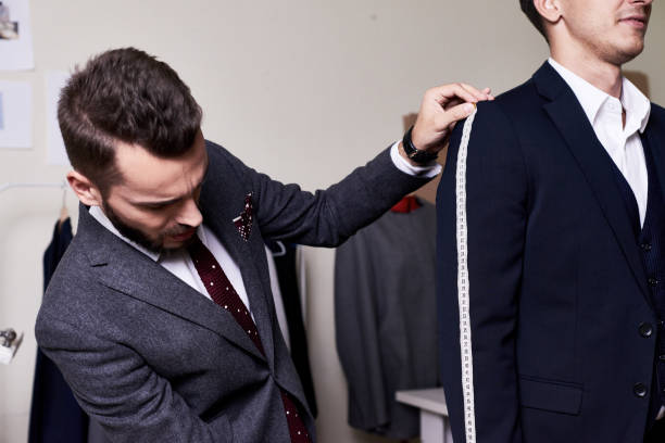 Model Fitting in Traditional Atelier stock photo