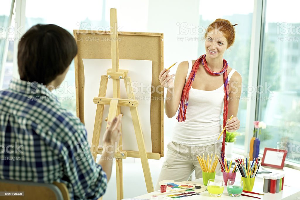 Model for young artist royalty-free stock photo