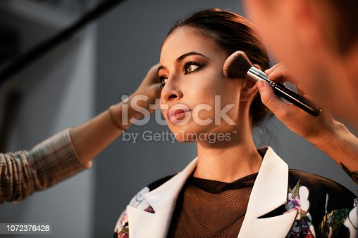 istock Model getting a touch up 1072376428