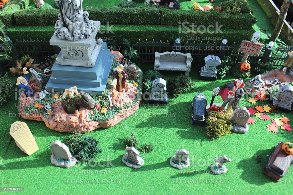 Halloween Miniaturen.Model Halloween Gruseligestadtort Miniaturen Graves Dem