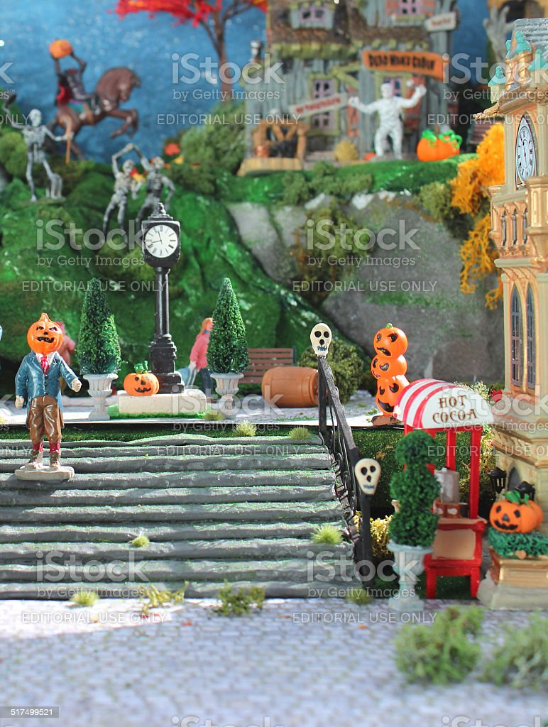 Halloween Miniaturen.Model Villagespooky Halloweenstadt Miniaturen Kurbisse