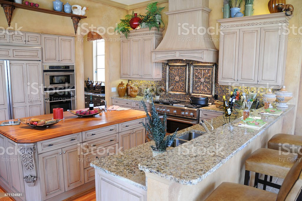 model home kitchen royalty-free stock photo