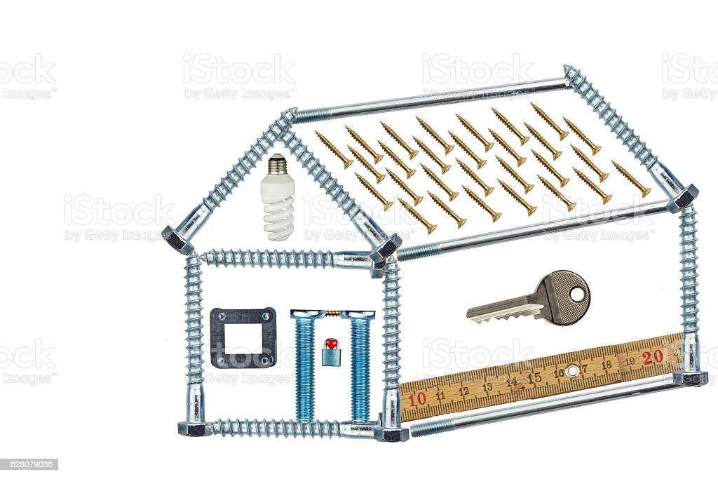 Model home of the screws. stock photo