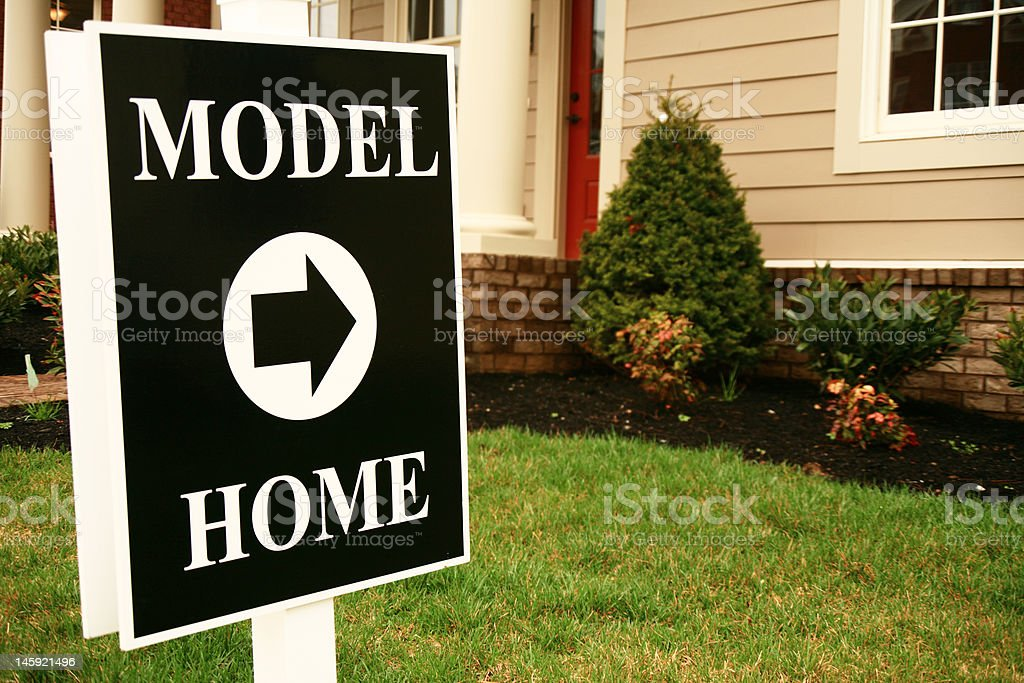 model home sign stock photo more pictures of architectural column