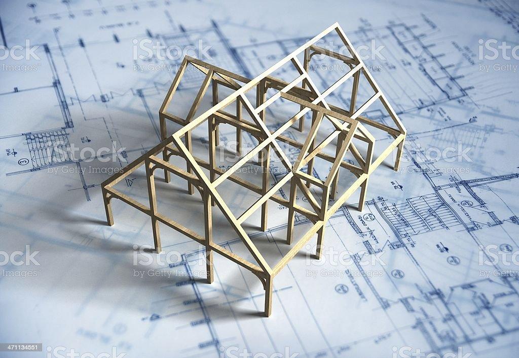 Maison modèle et Plan d'architecte - Photo