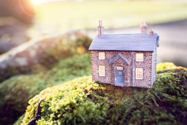 Modellhaus und Heimathintergrund – Foto