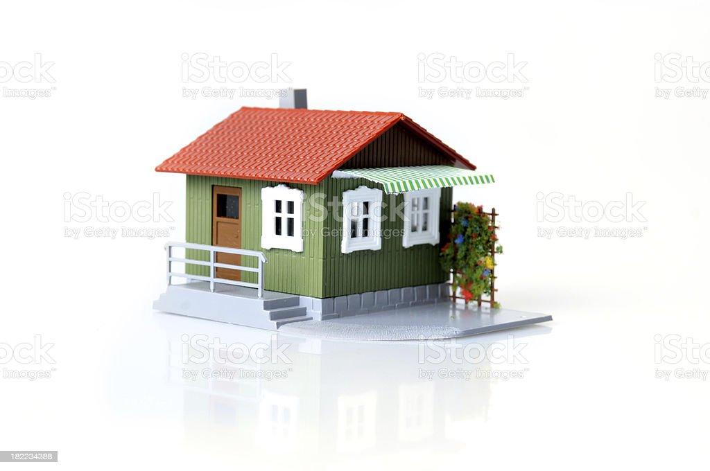 Model house, close-up stock photo