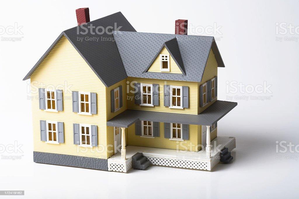 Model house on white stock photo