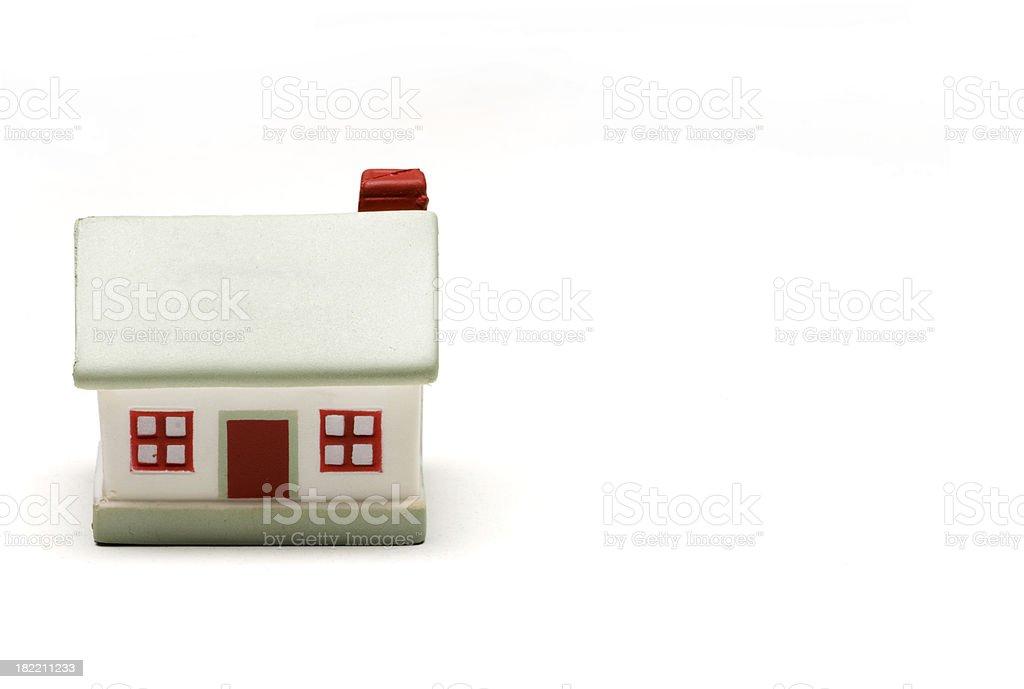Model house-isolated on white stock photo