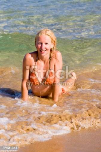 Model In Bikini Stock Photo & More Pictures of Adult