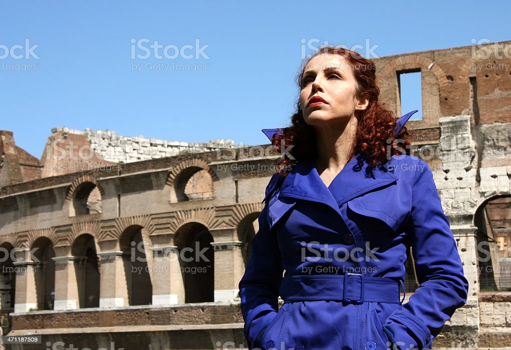 model in blue royalty-free stock photo